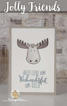 jolly friends by stampin up winter 2016 sneak peek vorschau Elch moose…