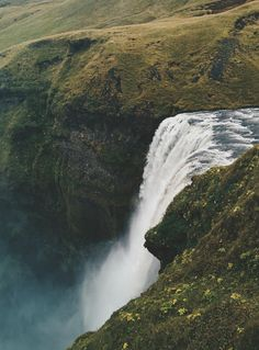 #iceland #kapuiceland #explore #adventure #nature #wanderlust #waterfall #green #water | Jakub Kapusnak (Prague) | VSCO Grid™