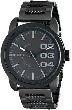 Montre Diesel Homme DZ1371 - Quartz - Analogique - Cadran et Bracelet Acier Noir