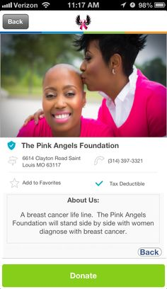 The Pink Angels Foundation in Saint Louis, Missouri #GivelifyNonprofits