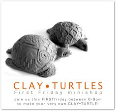 Clay turtles (image from mariegibbons.com) and lots of other mini projects that would work for elementary ceramics