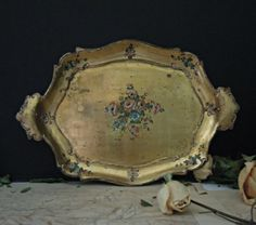 Hey, I found this really awesome Etsy listing at https://www.etsy.com/listing/247602872/vintage-wood-italian-florentine-tray