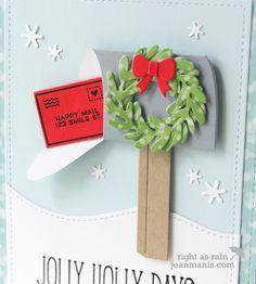 Lawn Fawn Die-Cut Holiday Mailbox – Right as Rain