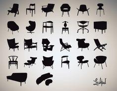 Danish design Inspiration // www. Danish Modern Furniture, Scandinavian Furniture, Scandinavian Modern, Mid Century Modern Furniture, Midcentury Modern, Mid Century Art, Mid Century Design, Chair Design, Furniture Design