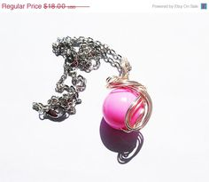 Pink Materia Final Fantasy Materia Necklace ff7 by KingsfieldInn