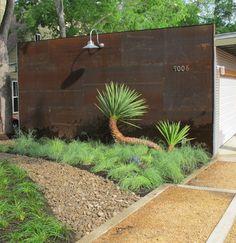 Corten -- low maintenance. Forest Hills modern - modern - landscape - dallas - Working Nature LLC