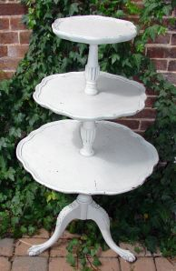 3-tier scallop-edge table - for favors??