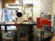 FBG Studio featuring our glass blowing and flamework equipment and utensils.