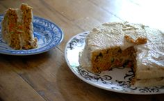 Healthy Zucchini Carrot Cake with Cashew Cream Frosting - you will never know its healthy!
