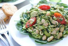 Chicken & White Bean Pesto Salad = Yum!!
