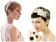 pixie hair accessories   pixie haircut with bangs looks chic and gorgeous with a statement hair ...