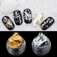 Glorious Irregular Gold/silver Mirror Nail Glitter Powder Paillettes Nail Flakes Nail Art Sequins Magic Aluminum Nail Gel Polish Pigment High Quality Goods Nail Gel