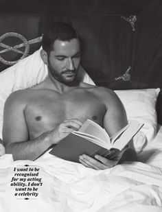 Tom Ellis can read to me any day.