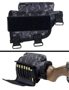 Official Product of Ultimate Arms Gear Brand New. Includes removable covered 7 round ammo carrier for .308 or 300 winmag. Removable center pad to lower eye strain. Provides a padded cheek weld that a...
