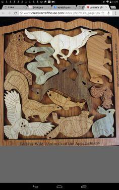 Wildlife tray puzzle