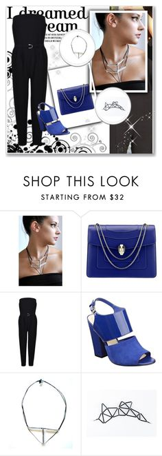 """Zdrop3"" by gold-phoenix ❤ liked on Polyvore featuring Bulgari, Just Cavalli and Nine West"