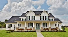 I love most everything about this house!  Must keep for future ideas if/when we ever build again :) Custom Farmhouse | Richmond Signature Homes