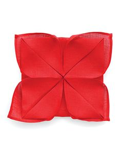 Lotus Napkin Fold - simple yet elegant; may be a nice filler if you don't have the plate settings on the table to begin with...