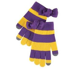 Game Day Smart Screen Gloves - Purple and Gold