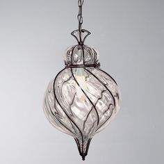 Captured Glass Pendant Light