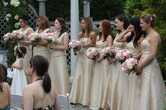 Vestido cor champagne para madrinhas