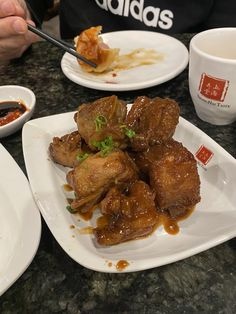 Pork ribs Las Vegas Restaurants, Pork Ribs, Chicken Wings, Steak, Dining, Food, Pork Spare Ribs, Essen, Steaks