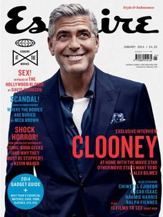 Celeb Diary: George Clooney in Esquire UK (ianuarie George Clooney, Kenneth Anger, Esquire Uk, Monument Men, Uk Magazines, Vintage Magazines, Magazine Layout Design, Matthew Mcconaughey, Cover Design