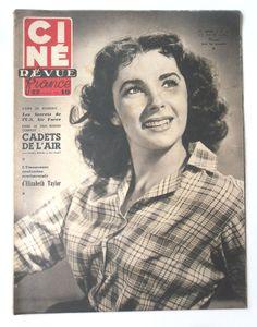 CINE-REVUE 16 juin 1951 ELIZABETH TAYLOR
