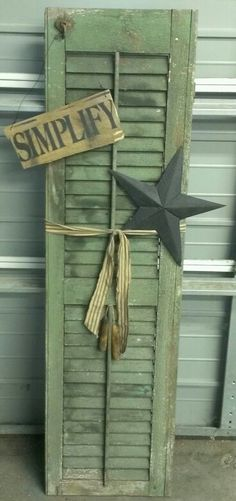 1000  images about Shutter Crafts on Pinterest   Shutters, Old ...
