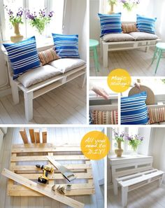 would like to have a bench like this for the balcony - so simple and cute