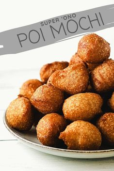 If you've never had poi mochi, you're missing out. Deep fried balls of sweet rice flour and poi, YUM YUM YUM. Poi Mochi Recipe, Mochi Donuts Recipe, Doughnuts, Manju Recipe, Hawaiian Dessert Recipes, Hawaiian Dishes, Donut Recipes, Baking Recipes, Chinese Recipes