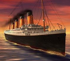 RMS Titanic ship , ocean liner