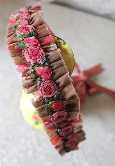 vintage ribbon rosette flapper ribbonwork