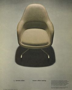 #Eames Loose Cushion Arm Chair 1970s! Retro Office, Vintage Office, Furniture Ads, Charles & Ray Eames, Eames Chairs, Timeless Design, Cool Designs, 1970s, Foundation