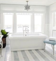 All about the striped tile right now Katie Rosenfeld Design