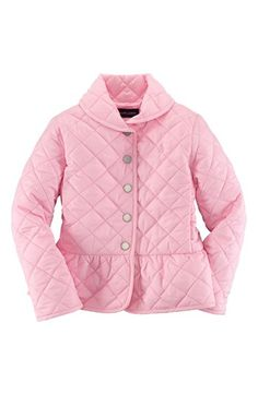 Ralph Lauren Quilted Peplum Jacket (Toddler Girls) available at #Nordstrom