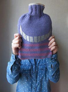 DIY tricot:Housse de bouillotte complétement Mad(e), Cheshire Cat.