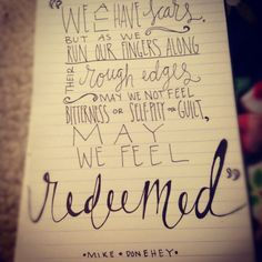 redeemed tattoo | mike donehey # tenth avenue north # scars # the struggle