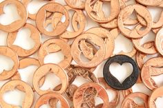 Lucky in Love - 4 Heart Penny -Valentines Day lucky charm shabby chic wedding favors wedding decor confetti heart pennies lucky penny