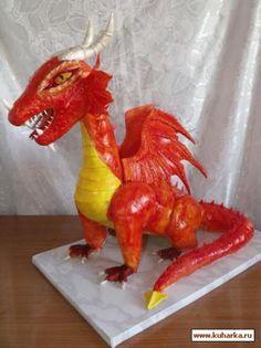 """Торт """"Дракон"""" с фейерверком"""