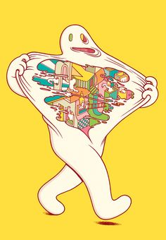 What's Inside on Behance | Illustration | Ilustração | Drawing | Desenho | Comic | Cômico | Cartoon | Colorful | Colorido |