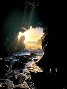 [1656x2208]  A wonderful sunset encounter through a cave found in Big Sur, California this winter! #nature and Science