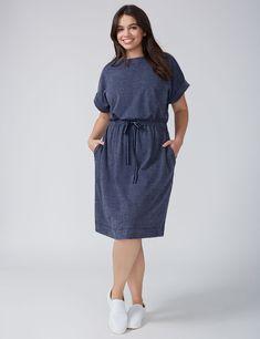 01a252da925 NWT Lane Bryant Sweatshirt Dress with Drawstring Waist