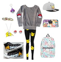 """""""Pikachu"""" by secretshadow ❤ liked on Polyvore featuring Converse, Nintendo, Loungefly and pikachu"""