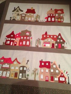 Christmas Village Diy Christmas Cards, Christmas Crafts, 5th Grade Art, Winter Project, House Quilts, Winter Crafts For Kids, Landscape Quilts, Christmas Villages, Winter Art