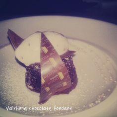 Valrhona chocolate fondant w/ cocoa nib ice cream #calgary #yyc #yycfood