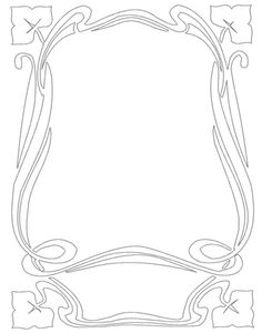 Border Art Nouveau Frame 6 ~ Bnspyrd.deviantart.com on @deviantART ~ Free Download