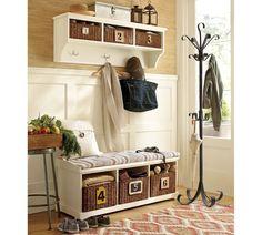 beautiful hall-room, rugs, baskets