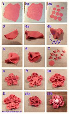 How-to: roos / bloem van fondant  Alapanyagot és ételfestéket vásárolj a GlazurShopban! http://shop.glazur.hu