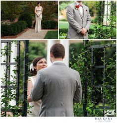 Charlotte wedding Photograoher First Look at #dukemansion   Image by: www.cassbradleyweddings.com